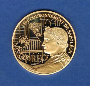 FRANCE MONNAIE DE 50 EURO 2004 OR COURONNEMENT DE NAPOLEON 900 ‰ 31,10 gr E252