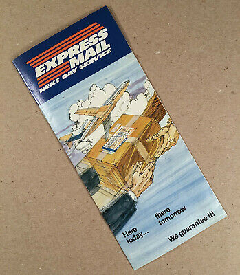 1977 Usps Postal Service Express Mail Next Day Service Brochure - First Year Mooi En Charmant