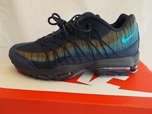 new style e7aa4 86d2b Image is loading Nike-Air-Max-95-Ultra-Jacquard-Navy-Blue-
