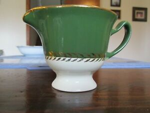 Gold-Green-Stetson-Duchess-of-Greencastle-8-oz-Footed-Creamer-No-Chips-No-Cracks