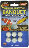 Zoo Med Plankton Banquet Mini Block Time Release Feeder Fish Food. Free Ship Usa