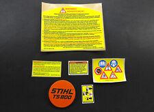 Stihl Ts800 Ts 800 Cutquik Model Name Plate Tag Emblem Badge Amp Decal Sticker Set