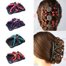 Afrikanische Haarkämme Holzperlen Doppel Haarkamm Clip Haarnadeln DIY Haar