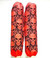 Shock Protector Covers Ski-Doo Bombadier BRP Orange Skulls Snowmobile Set 2
