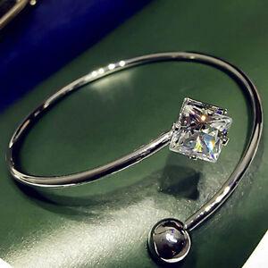 Women-Crystal-Zircon-Open-Charming-Bangle-Bracelet-Fashion-Jewelry-Simple-wNglP