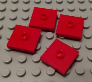 New LEGO Lot of 4 White 2x2 Tile Pieces