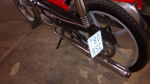 Kreidler Florett RS50 Rex Roller Mofa Moped Kennzeichenhalter seitlich Edelstahl