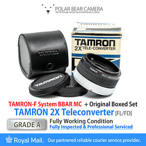 ⭐SERVICED⭐ TAMRON 2X Teleconverter BBAR MC (Canon FD/FL Fits) BOXED [GRADE A]