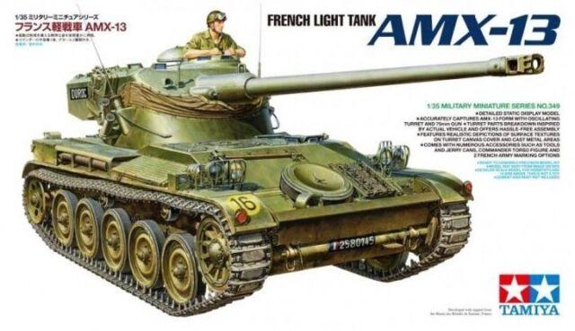 KIT TAMIYA 1:35 FRENCH LIGHT TANK AMX-13 CARROARMATO E ACCESSORI ART 35349
