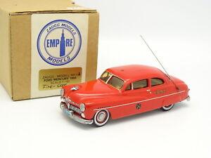 Zaugg Models Tin Wizard 1/43 - Ford Mercury 1950 Fire Car Pompiers Fdny