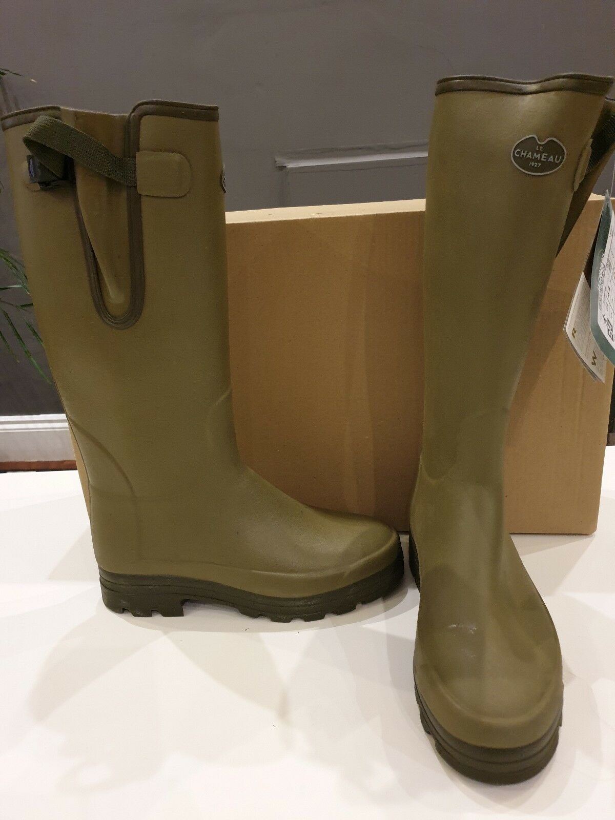 Le Chameau Vierzonord Hombre Neopreno Forrado botas Reino Unido 12 verde Venta