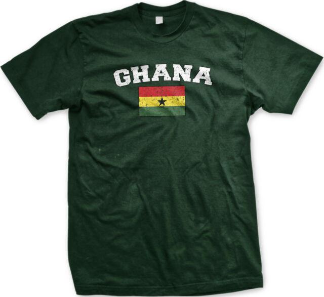 Ghana Flag Crest Ghananian Africa National Country Pride Retro Sport T-shirt