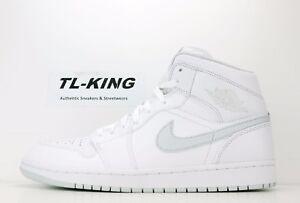 Nike Air Jordan 1 One Retro Mid White Pure Platinum 554724-108 Msrp ... dd7e94124