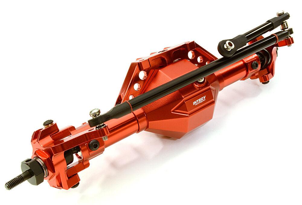 C26799rosso Integy Complete T8 F Axle for Axial 1 10 SCX-10, Dingo, Honcho & Jeep