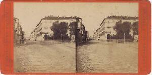 Italia Una Ville Data E Florence ? Foto Brogi Stereo Vintage Albumina Ca 1875