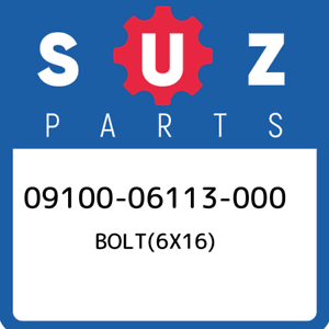 09100-06113-000-Suzuki-Bolt-6x16-0910006113000-New-Genuine-OEM-Part