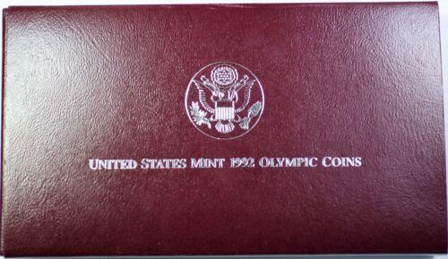 1992-S USA Olympics Baseball Silver Dollar Coin /& Gymnastics Half as Issued OGP
