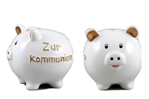 """Sparschwein /""""Zur Kommunion/"""" glasiert"""