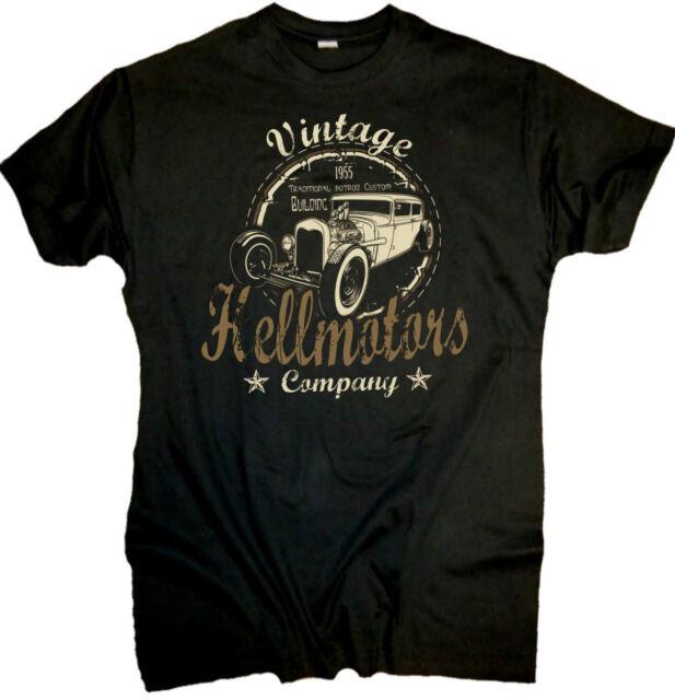 Rockabilly T-Shirt Rocker Vintage Hotrod Hellmotors UScar V8 Shirt Ford Oldskool