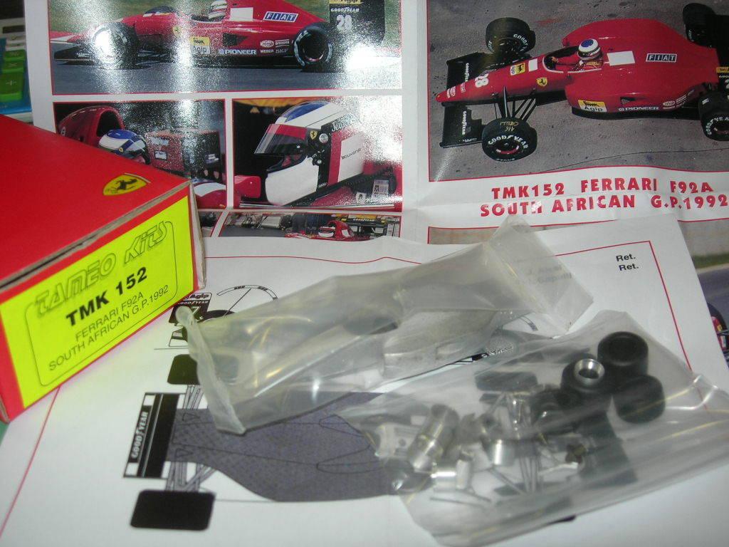 deportes calientes Tameo Kits 1 43 KIT TMK 152 Ferrari F92A F92A F92A F.1 GP Sudafrica 1992 Alesi Capelli NEW  Mejor precio