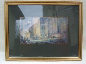 Ancienne Aquarelle Impressionniste Cathédrale De Reims Le Choeur 1915 Signé Distinctive Pour Ses PropriéTéS Traditionnelles