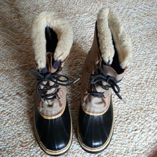 SOREL CANDIAN LUG SOLE  MADE CARIBOU DUCK BOOTS