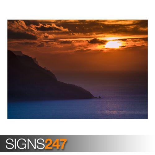 Picture Poster Print Art A0 A1 A2 A3 A4 OCEAN SUNSET 3242 Beach Poster