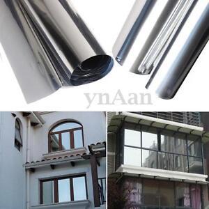 Silver insulation stickers solar reflective window film for 2 way mirror window film