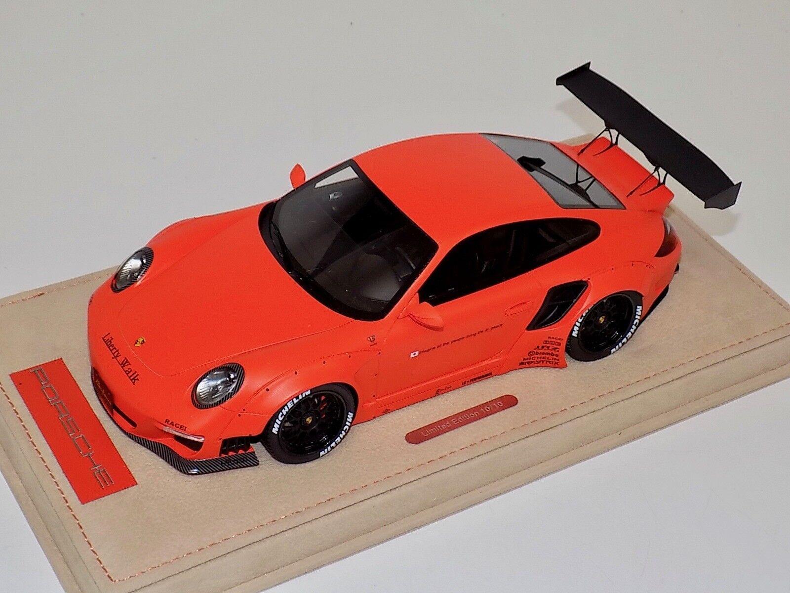 1 18 AB Models Porsche 911 Liberty walk LB Performance Matt orange Decals 03C