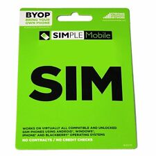 Simple Mobile SIM card + TWO MONTH'S FREE SERVICE ($40 PLAN x 2 MONTHS)
