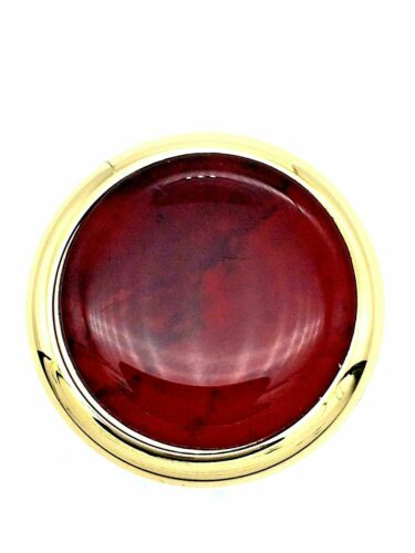 450 6 x GOLD /& RED KNOBS 34mm brass ruby marble effect cupboard door  knob