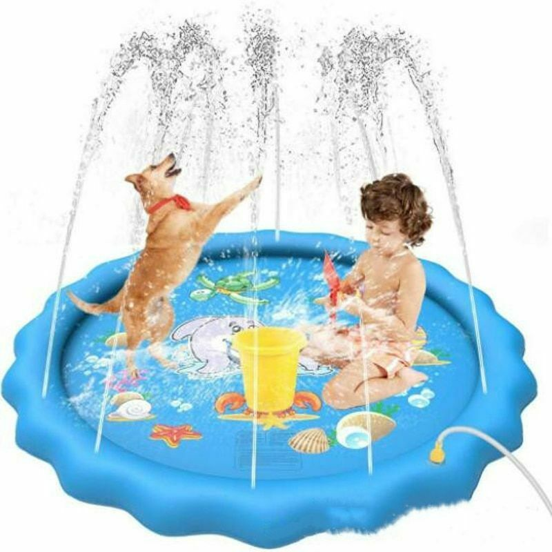 Pet Swimming Pool 68 Inches Play Mat Dogs Kids Inflatable Outdoor Water Tub