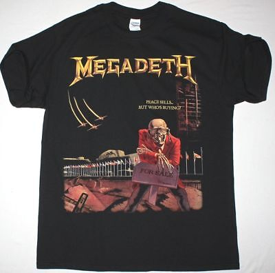 MEGADETH PEACE SELLS BUT WHO/'S BUYING BLACK T SHIRT DAVE MUSTAINE METALLICA