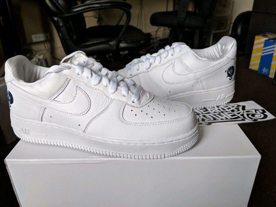Nike Air Force One 1 '07 Low x ROCAFELLA Roc-A-Fella Triple White AO1070-101