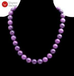 4-10mm Round Purple Natural Sugilite 17/'/' Chokers Necklace for Women Jewelry