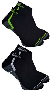2-Pairs-Mens-Prohike-Cushioned-Trainer-Sports-Socks-Black-White-Green-6-11