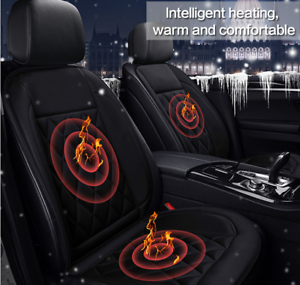 12V-Car-Front-Heating-Seat-Warmer-Heater-Heated-Pad-Cushion-Soft-Cover-Black