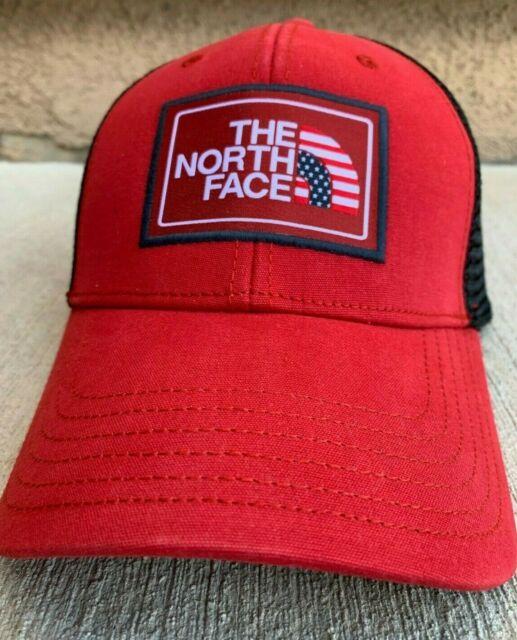 234ef888b502f3 The North Face Americana Trucker Hat Mens Womens Red Black Cap OSFM Snapback
