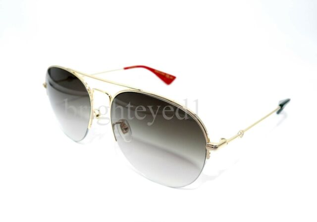 6c244d9125 Gucci Brown Gradient Aviator Sunglasses Gg0107s 007 56 for sale ...