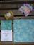 "Single /""Aqua Mermaid Scales/"" Beeswax wrap eco-friendly various sizes"