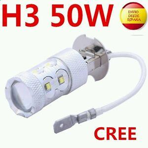 2X-BOMBILLAS-H3-LED-CREE-50W-ANTINIEBLA-COCHE-ALTA-POTENCIA-BLANCO