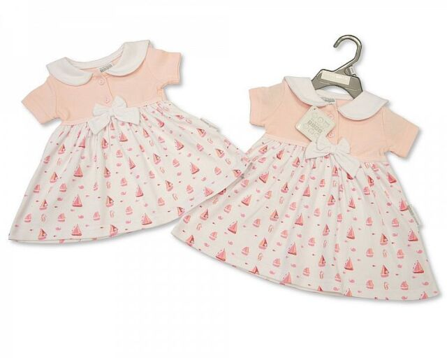 e6d1e2625 Baby Girl s Nursery Time Summer Dress - Little Sailor Design in Pink ...
