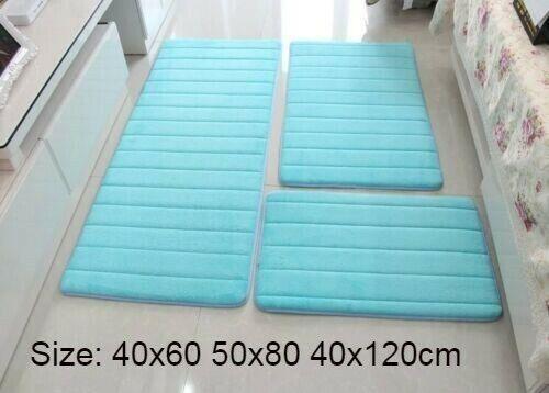 3Pcs Anti Slip Floor Mats Modern Rugs For Bathroom Toilet Set Memory Foam Carpet
