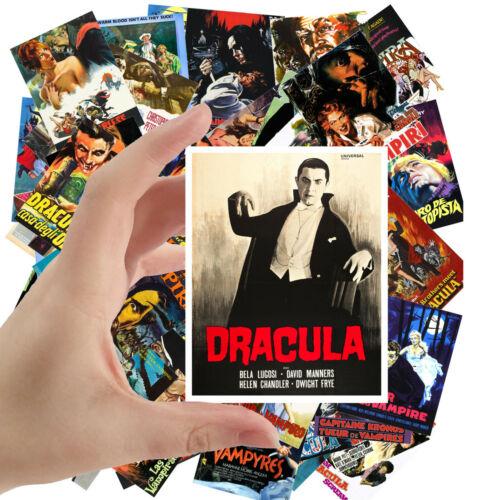 "Stickers pack Vampires Vintage Horror Movie Poster 1068 24 stkrs 2.5/""x3.5/""ea"