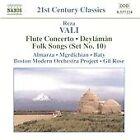 Reza Vali - : Flute Concerto; Deylámân; Folk Songs (Set No. 10, 2004)