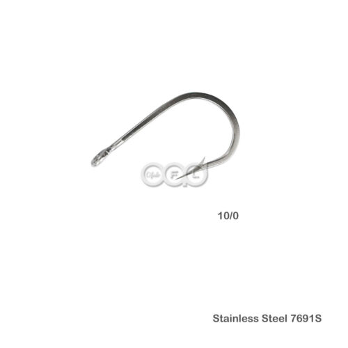 15pcs Fishing 7691S Stainless Steel Hook Size 10//0 Big Game Southern Tuna Hooks
