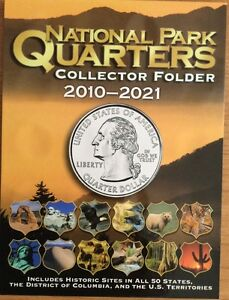 National-Park-Quarters-Coin-Folder-Whitman-2010-2021-Collector-Brand-New
