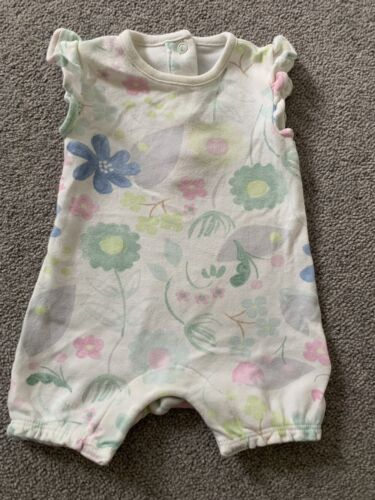 M/&S Baby Girl Playsuit X 2 Size 0-3 Months