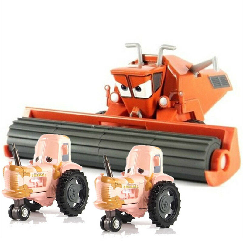Cars Harvester Frank and Tractor Diecast Toy Car 1 55 Loose Kids Toys Vehicle
