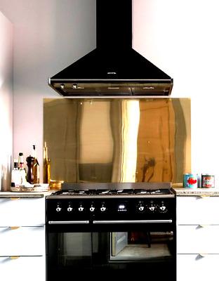 Satin Stainless Steel Splashback For Kitchen Cooker Hood 1.2mm Thick Grey